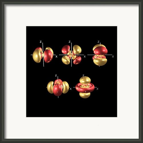 5d Electron Orbitals Framed Print By Dr Mark J. Winter
