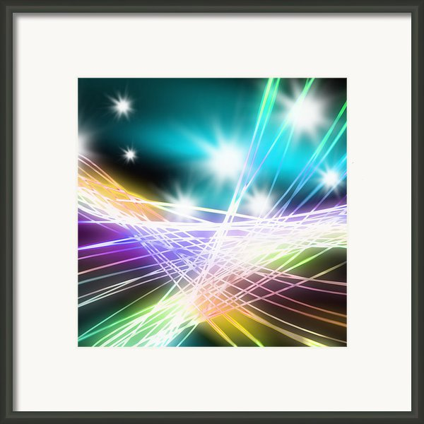 Abstract Of Stage Concert Lighting Framed Print By Setsiri Silapasuwanchai
