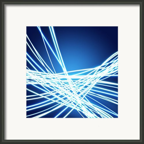 Abstract Of Weaving Line Framed Print By Setsiri Silapasuwanchai