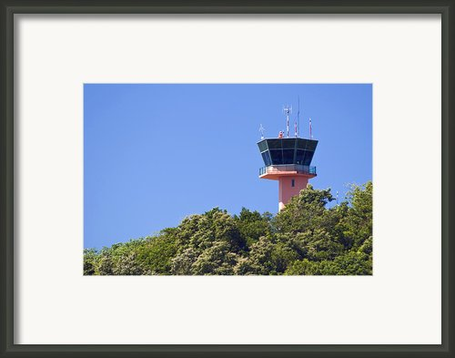 Airport Control Tower. Framed Print By Fernando Barozza