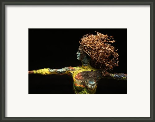 Alight A Sculpture By Adam Long Framed Print By Adam Long