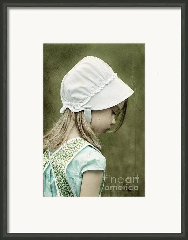 Amish Child Framed Print By Stephanie Frey