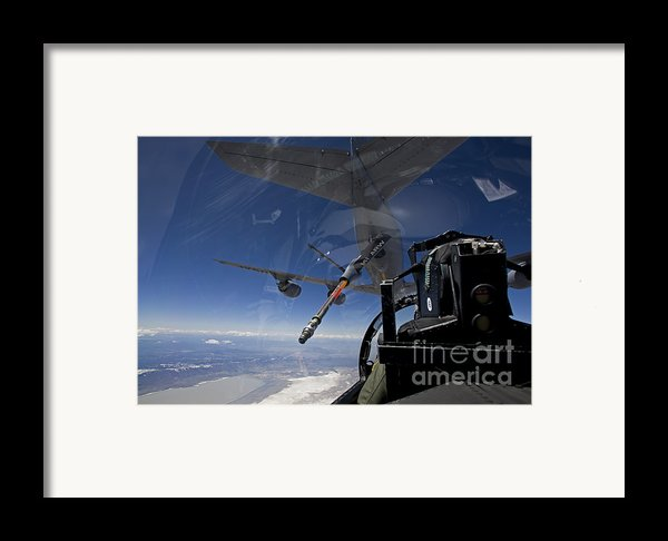 An F-15 Eagle Pulls Into Position Framed Print By High-g Productions