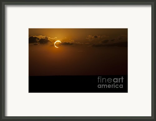 Annular Solar Eclipse Framed Print By Phillip Jones