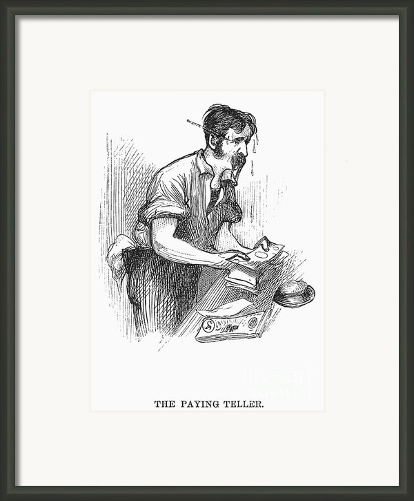 Bank Panic, 1873 Framed Print By Granger