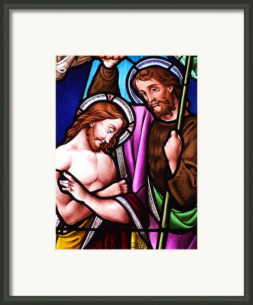 Baptism Framed Print By Munir Alawi