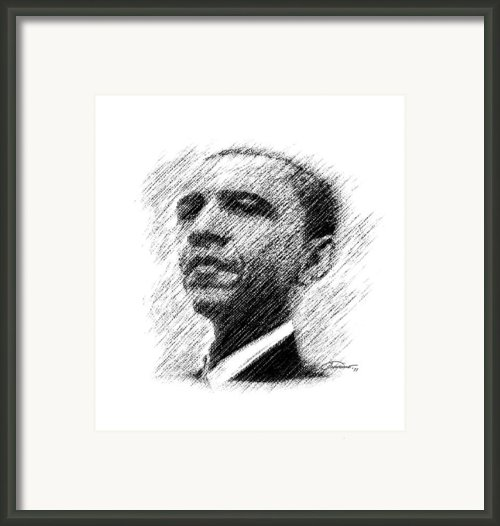 Barack Obama Framed Print By John Travisano