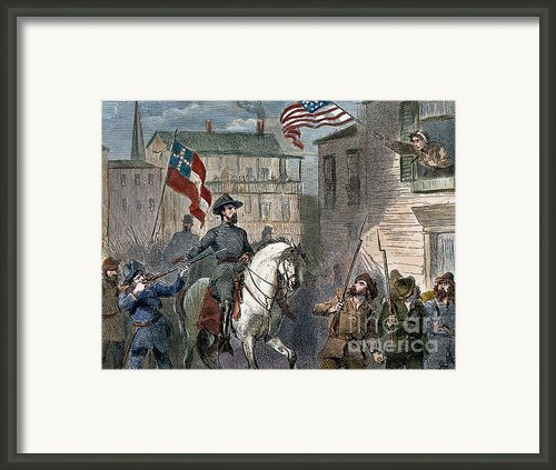 Barbara Frietschie Framed Print By Granger