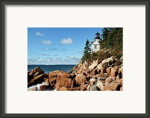 Bass Harbor Lighthouse Framed Print By John Greim