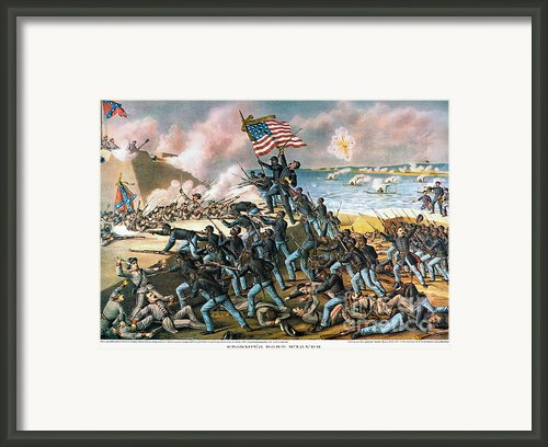 Battle Of Fort Wagner, 1863 Framed Print By Granger