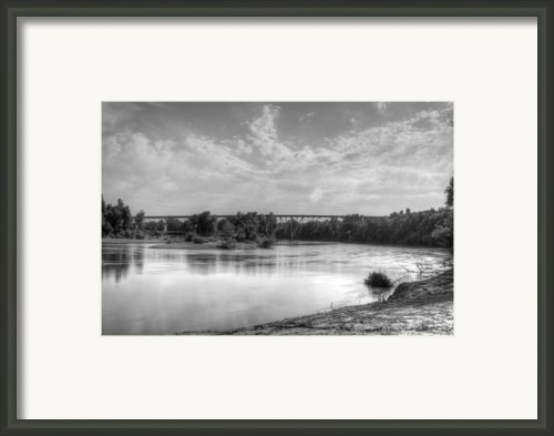 Black River Bridge At Black Rock Arkansas Framed Print By Geary Barr