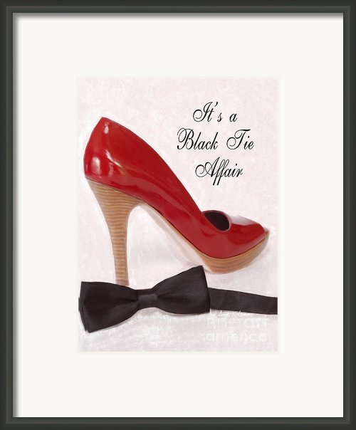 Black Tie Affair Framed Print By Anne Kitzman