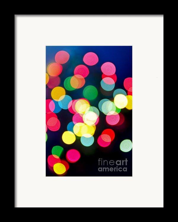 Blurred Christmas Lights Framed Print By Elena Elisseeva