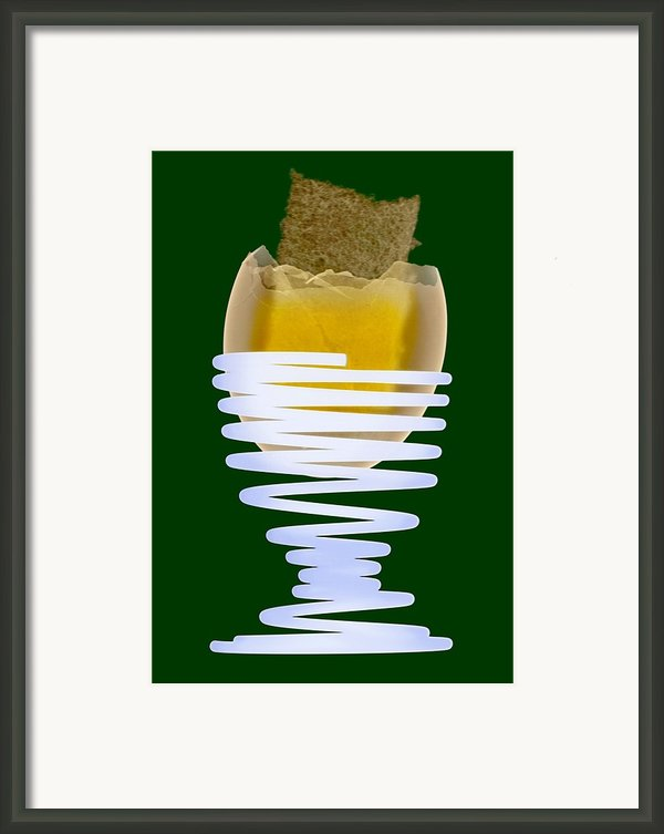 Boiled Egg In An Eggcup, X-ray Framed Print By D. Roberts