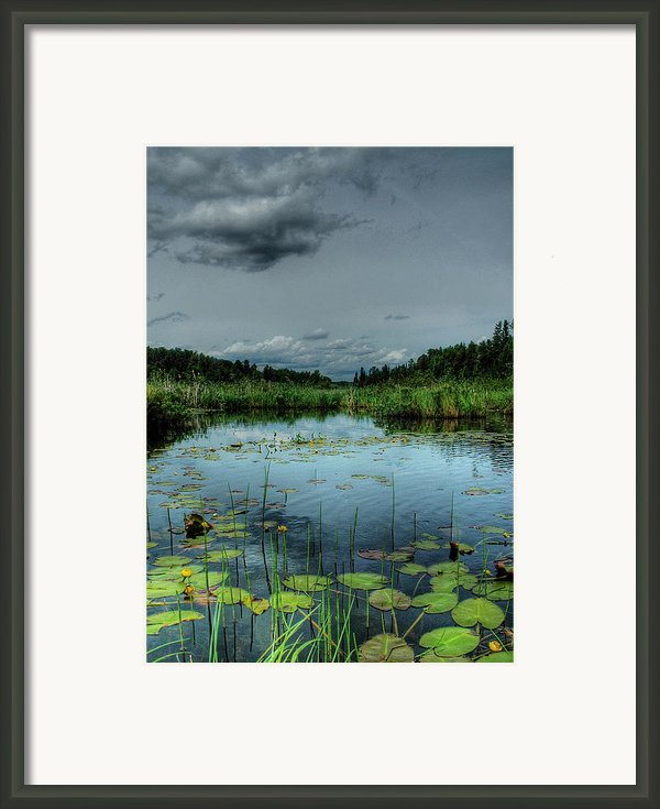 Bottomless Lake Framed Print By Heather  Rivet