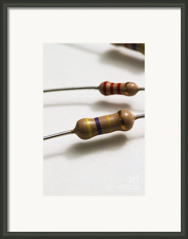 Carbon Film Resistors Framed Print By Photo Researchers, Inc.