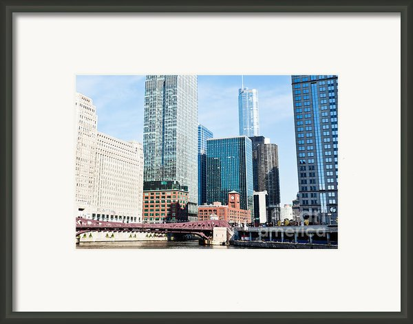 Chicago River Skyline Framed Print By Paul Velgos