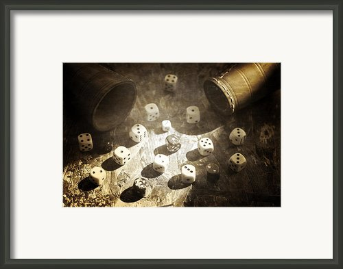 Dice Framed Print By Joana Kruse