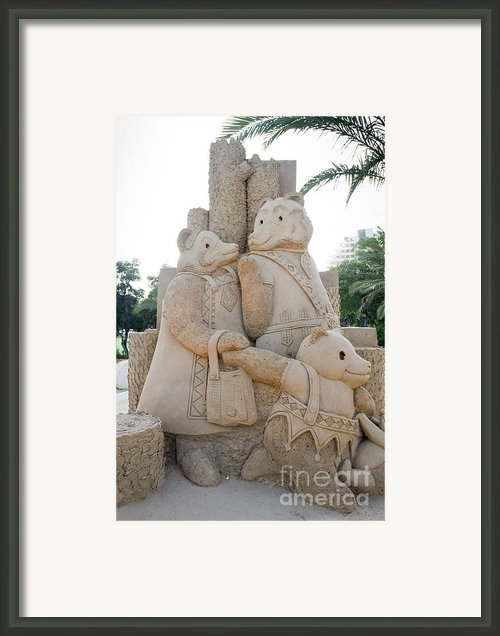 Fairytale Sand Sculpture  Framed Print By Shay Velich