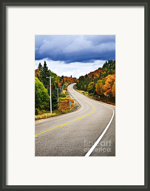 Fall Highway Framed Print By Elena Elisseeva