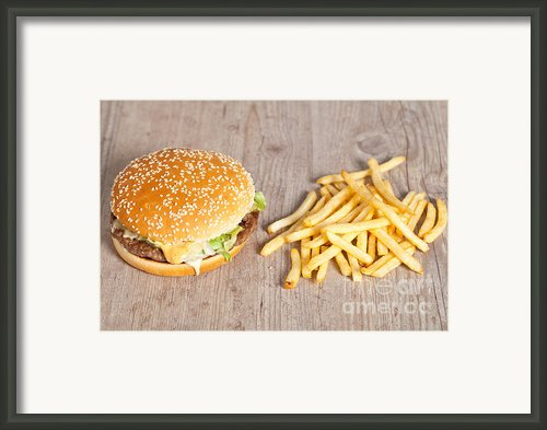 Fat Hamburger Sandwich Framed Print By Sabino Parente