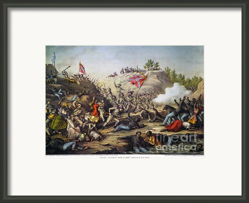 Fort Pillow Massacre, 1864 Framed Print By Granger