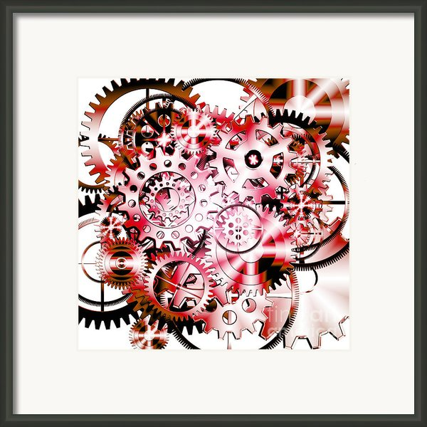 Gears Wheels Design  Framed Print By Setsiri Silapasuwanchai