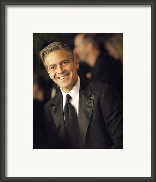George Clooney At Arrivals For The Framed Print By Everett