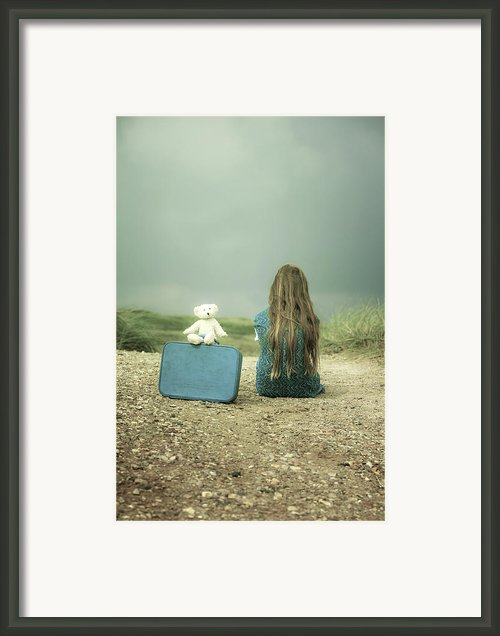 Girl In The Dunes Framed Print By Joana Kruse