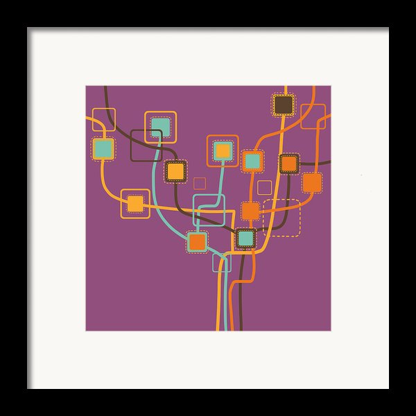 Graphic Tree Pattern Framed Print By Setsiri Silapasuwanchai