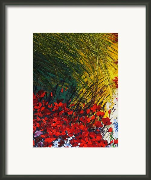 Grass Framed Print By Shilpi Singh