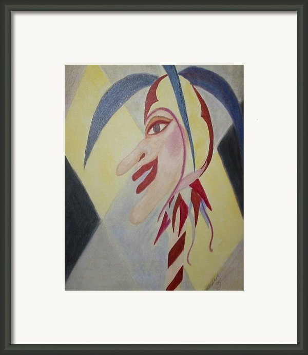 Harlequin Jester Framed Print By Marian Hebert