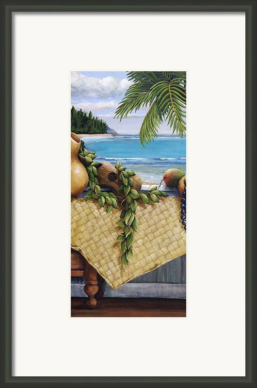 Hawaiian Still Life Panel Framed Print By Sandra Blazel - Printscapes