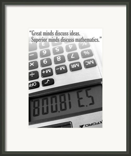 I Love Math Framed Print By Julia Wilcox