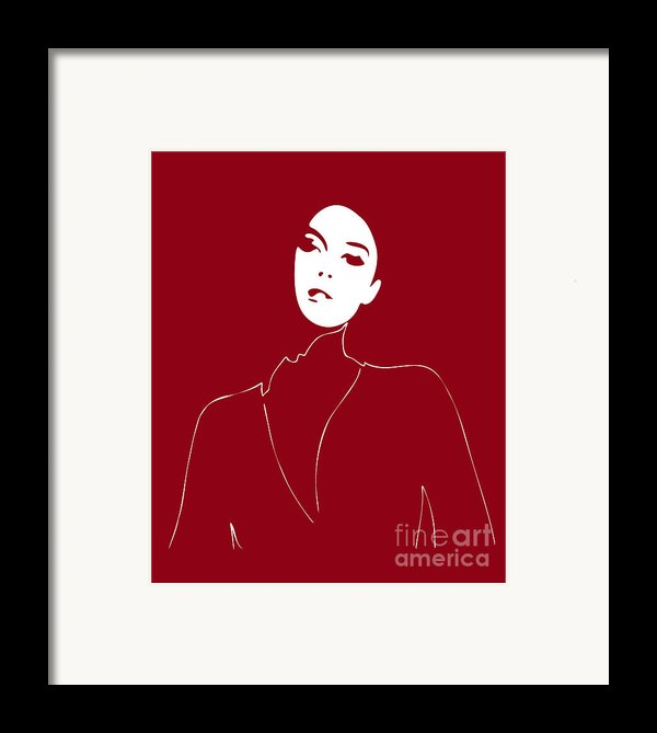 Illustration Of A Woman In Fashion Framed Print By Frank Tschakert