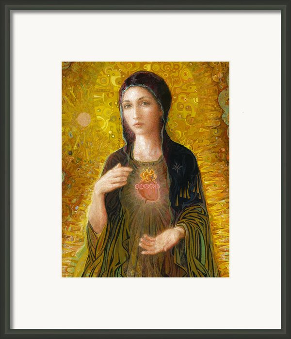 Immaculate Heart Of Mary Framed Print By Smith Catholic Art
