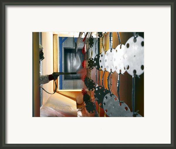 Industrial Powder Coating Framed Print By Mark Sykes