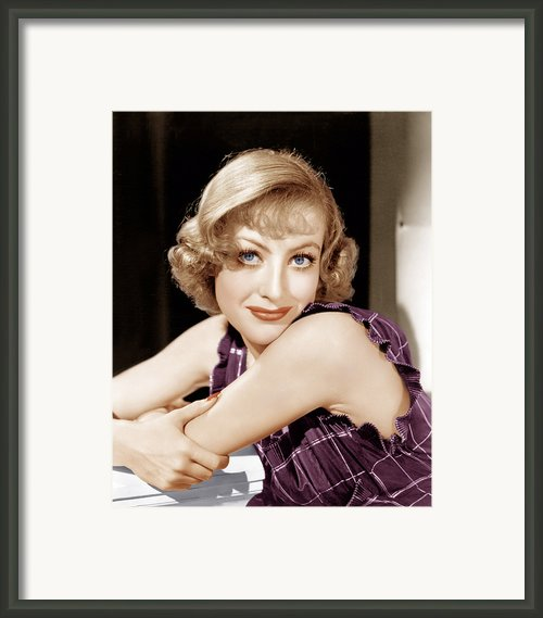 Joan Crawford, Ca. 1930s Framed Print By Everett