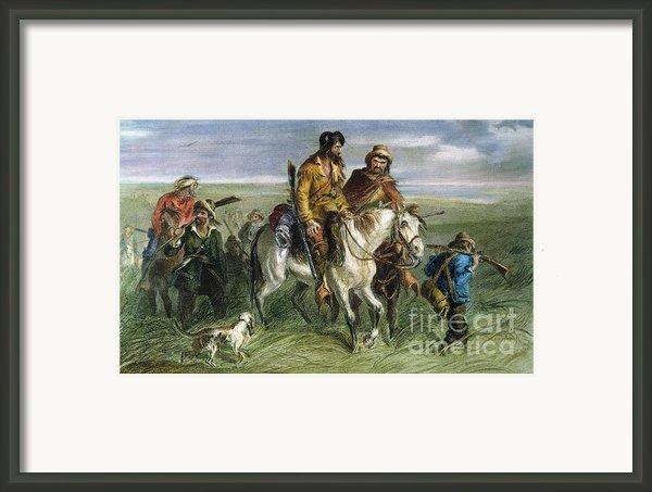 Kansas-nebraska Act, 1856 Framed Print By Granger
