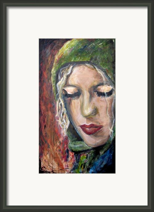Katie Framed Print By Molly Markow