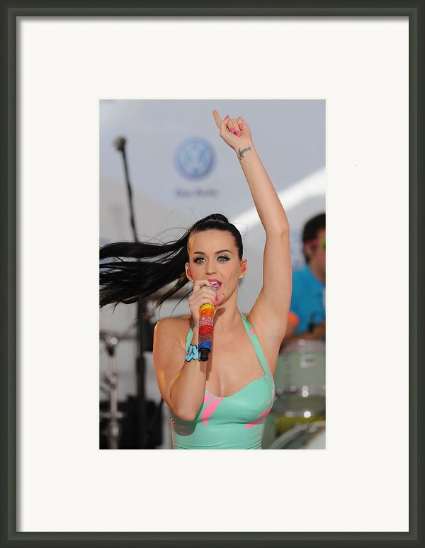 Katy Perry At A Public Appearance Framed Print By Everett