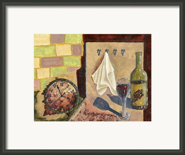 Kitchen Collage Framed Print By Susan Schmitz