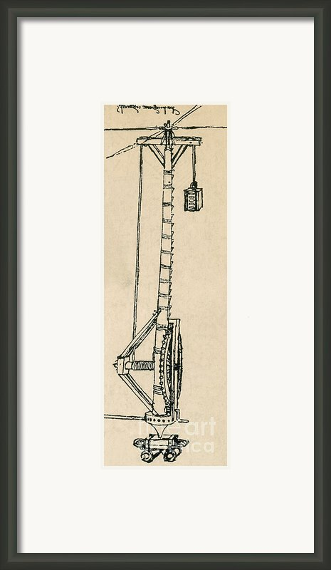 Leonardo Da Vincis Lifting Gear Framed Print By Science Source