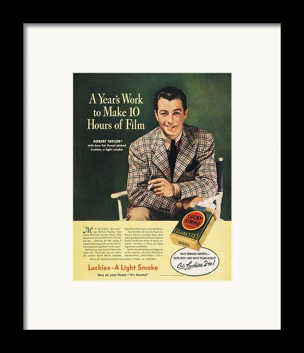 Lucky Strike Cigarette Ad Framed Print By Granger