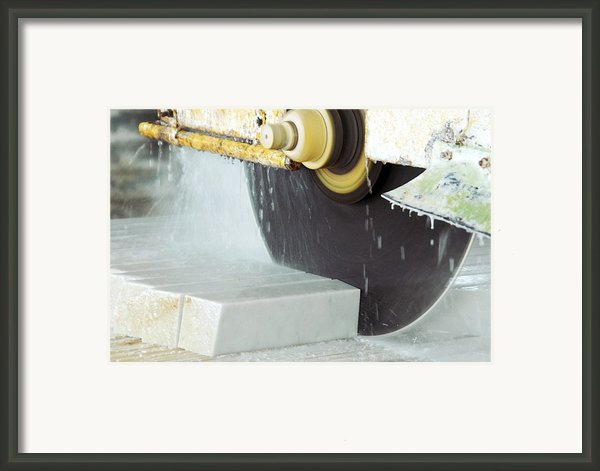 Marble Quarrying Framed Print By Ria Novosti
