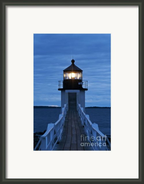 Marshall Point Light Framed Print By John Greim