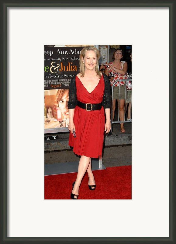 Meryl Streep At Arrivals For Julie & Framed Print By Everett