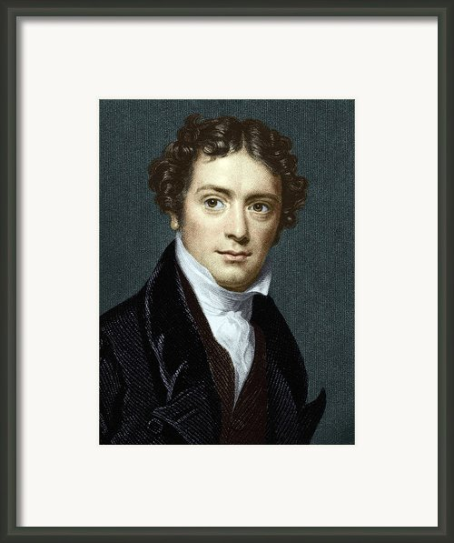 Michael Faraday, British Physicist Framed Print By Sheila Terry