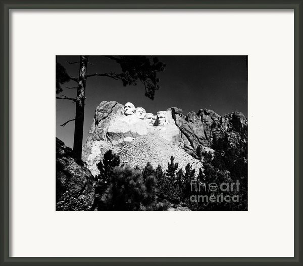 Mount Rushmore Framed Print By Granger
