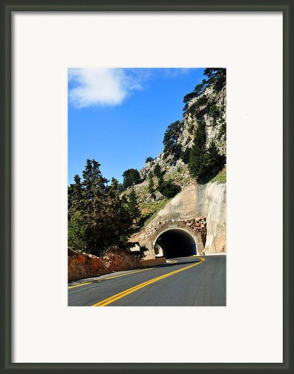 Mountain Tunnel. Framed Print By Fernando Barozza